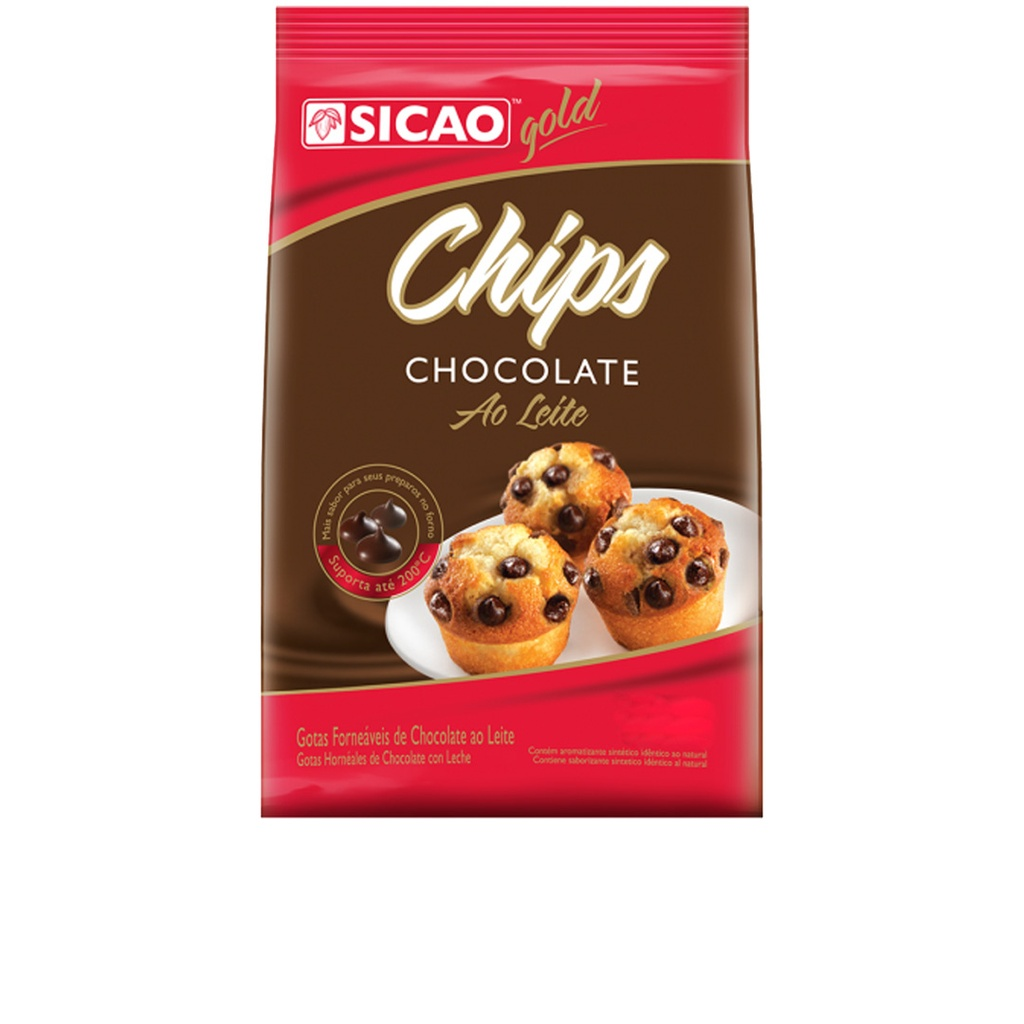 Chocolate Chips Ao Leite Sicao Gold 1,01kg