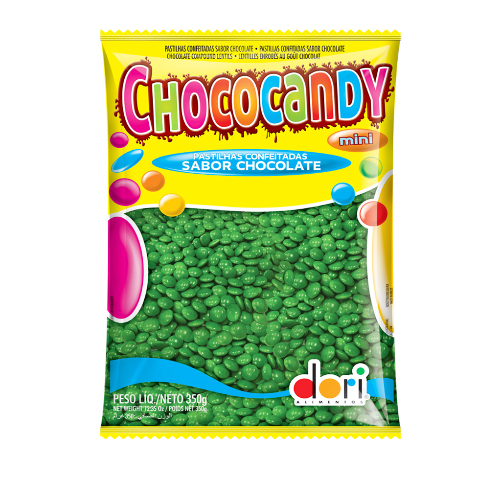 [74979] Confeito Mini Verde Chococandy 350g
